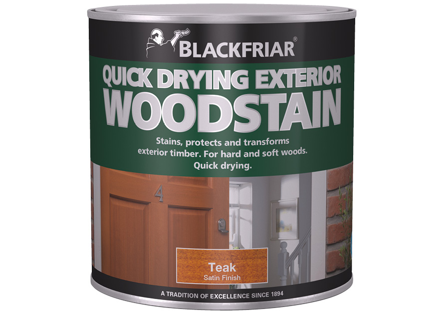 Quick Drying Exterior Woodstain Blackfriar